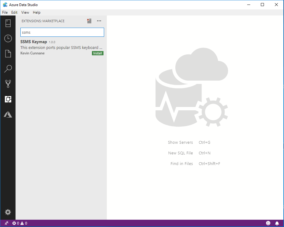 Getting SSMS Keyboard Shortcuts in Azure Data Studio | Bob