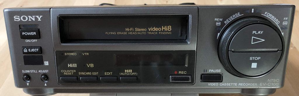 Photo of a Sony EV-C100 8mm VCR